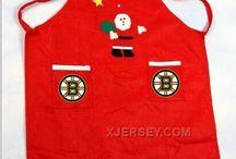 NHL Christmas Aprons
