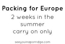 carry on packing