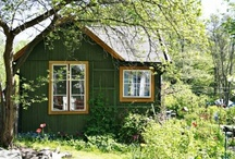 Garden Sheds / I don't have a garden shed, so my pictures are a scrapbook of dreams.  I would love to have one of my own! / by Julie Tiefenthaler