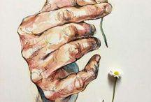 Dessin de mains / dessins de mains