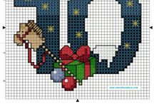 Numbers cross stitch