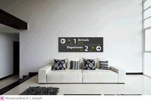 Airpart / Unieke muurdecoraties in verschillende wereldbekende stijlen geïnspireerd door vliegvelden van over de gehele wereld.