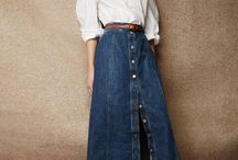 faldas jeans