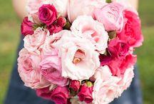 Die Blumen / Brautstrauß, Tisch-Deko und wo es sonst noch blühen und grünen darf