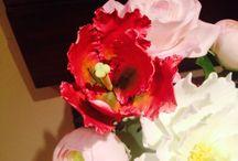 Flores, diseño con una flor / Modelaje pasta de goma