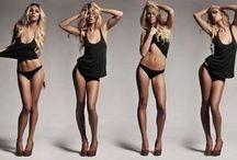 Female modeling poses