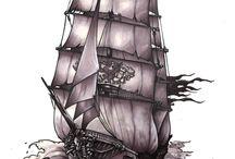 Ship illustrations