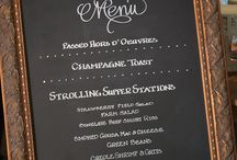 Signage / Chalk boards, Drink signs, other sign ideas