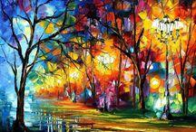 Art - leonid afremov / by lynn greenwood