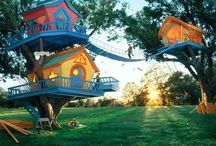 A secret you & me house, high up in the leafy branches... / Treehouses…:0P