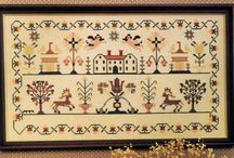 Cross Stitch Reproduction Samplers