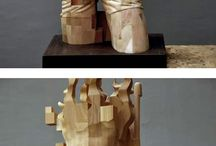 Hsu Tung Han -Pixelated wood scultures