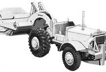 Euclid classic tractors / Classic machinery-pictures of Euclid's earthmoving tractors