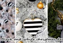 Christmas decoration in black and white