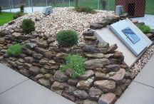 Landscaping around Storm Shelter