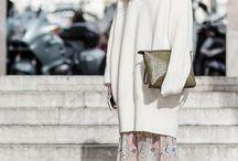 White knit long