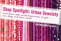 In the Spotlight / Interviews with brick and mortar quilt shops, creative spaces and studios, as well as online shops, quilters, and other creatives.