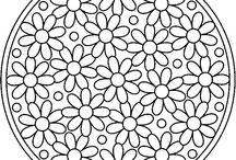 színezők virág