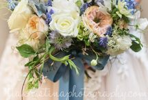 Blue Wedding Flowers / beautiful bouquets with a blue theme