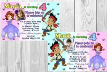 Personalised Princess and Pirate Birthday Party Invitations