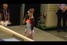 gymnasts with great artistry / Gymnasts with great artistry, very interesting beam and floor routines, interesting move for gymnastics choreography