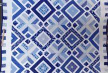 blauw-wit quilt