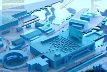 都市や街の模型