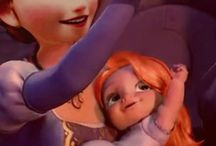 frozen anna and her baby