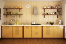 """Straight Kitchens on Capricoast / New, beautiful and """"modern kitchen designs"""" for your home. Choose, customize and get your favorite """"modular kitchen"""" installed totally hassle free through capricoast.com"""