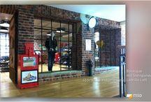 MSD Steinpaneele Ladenbau / Steinpaneele für den Ladenbau