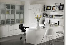 Contemporary Home Offices / Home offices come in all shapes and sizes. While I feature home offices on my All Dressed Up page on WorkingNaked.com, I'm obsessed with all types of home offices.  / by Lisa Kanarek