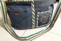 College bag made from jeans