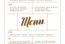 menu design inspiration  / Design / by Frank Lucero
