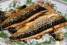 Еда из рыбы.