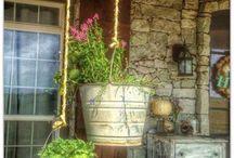 Garden tips. Porch decor