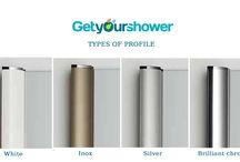 Types of profile / Profiles ir shower enclosures.