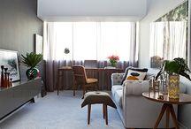 Ambientes sociais integrados / Salas/cozinhas e varandas