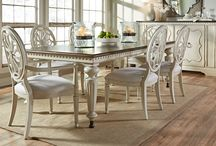 Sojourn / This new 30-piece collection, invites you to linger in a world apart without leaving home. Inspired by beloved English, French, and Swedish antiques in tranquil, timeless finishes, it combines familiar forms with fresh tactile details. Crafted of birch veneers in a lightly distressed Summer White, Sojourn features a soft Grey Lake accent finish on select pieces.