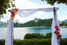Lake Bled weddings / Give in to the romantic surroundings of Bled… let it become a stage for your wedding day… Lake Bled weddings