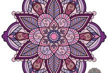gekleurde mandalas