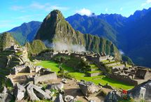Machu Picchu / Famous Inca Citadel close to the old inca town of Cusco, can be visited by train or by a 4 day trek  Inca Trail.