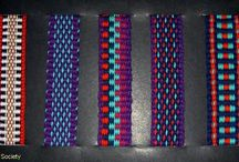 inkle bands / weaving on inkle loom - bands and patterns