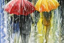 românticas umbrellas