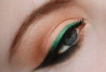 04/17 Green eye make up nude lips