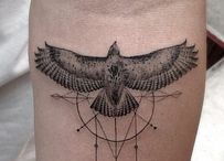 Hawk tattoo