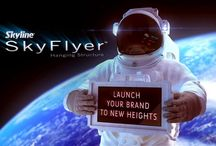 New Product-SkyFlyer / Launch your brand to new heights for less with our NEW  SkyFlyer™hanging structures! http://www.skyline.com/exhibits/systems/skyflyer