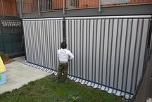 Tenda veranda doppio rullo estate inverno con struttura personalizzata colore grigio antracite