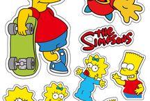 стикер симпсоны