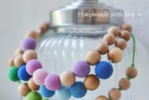 Classic crocheted nursing necklace