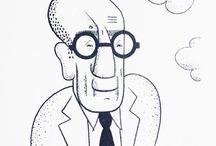 Toño Salazar / Illustrations and caricatures by Salvadoran artist Toño Salazar (1897-1986)